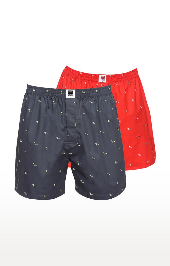 Spykar | Spykar Men Charcoal Red Boxers