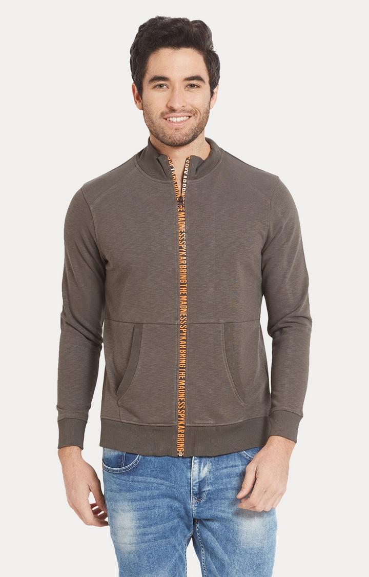 Spykar | spykar Grey Melange Slim Fit Sweatshirt