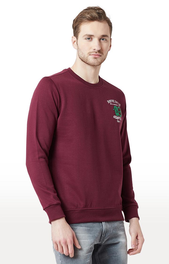 Spykar | spykar Wine Solid Slim Fit T-Shirt