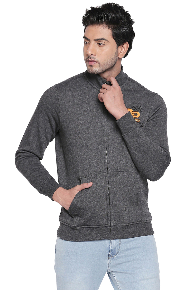 Spykar   spykar Grey Melange Slim Fit Sweatshirt