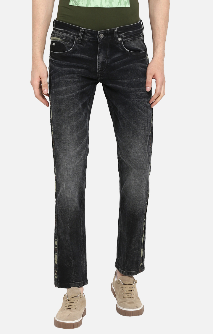 Spykar | Spykar Carbon Black Solid Skinny Fit Jeans