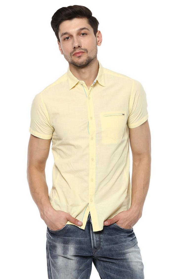 Spykar   spykar Yellow Cotton Casual Shirt