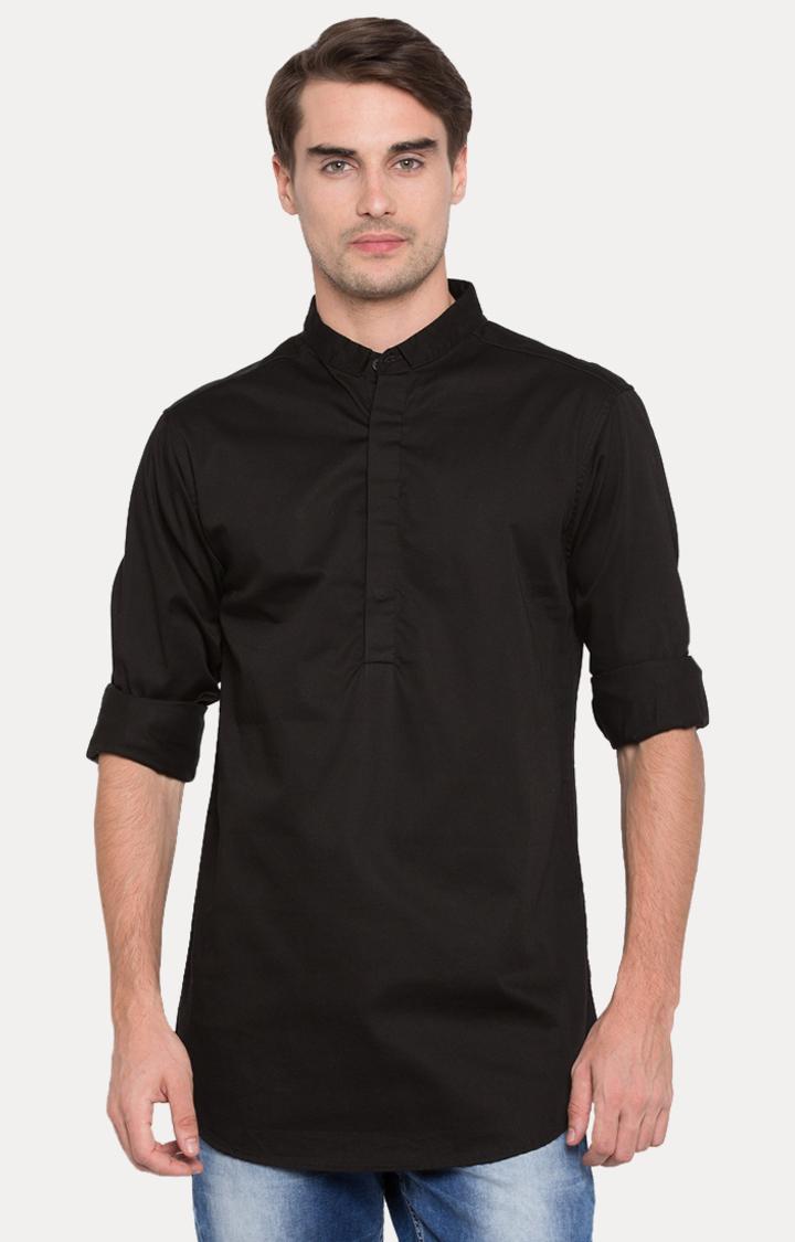 Spykar | spykar Black Solid Slim Fit Shirt