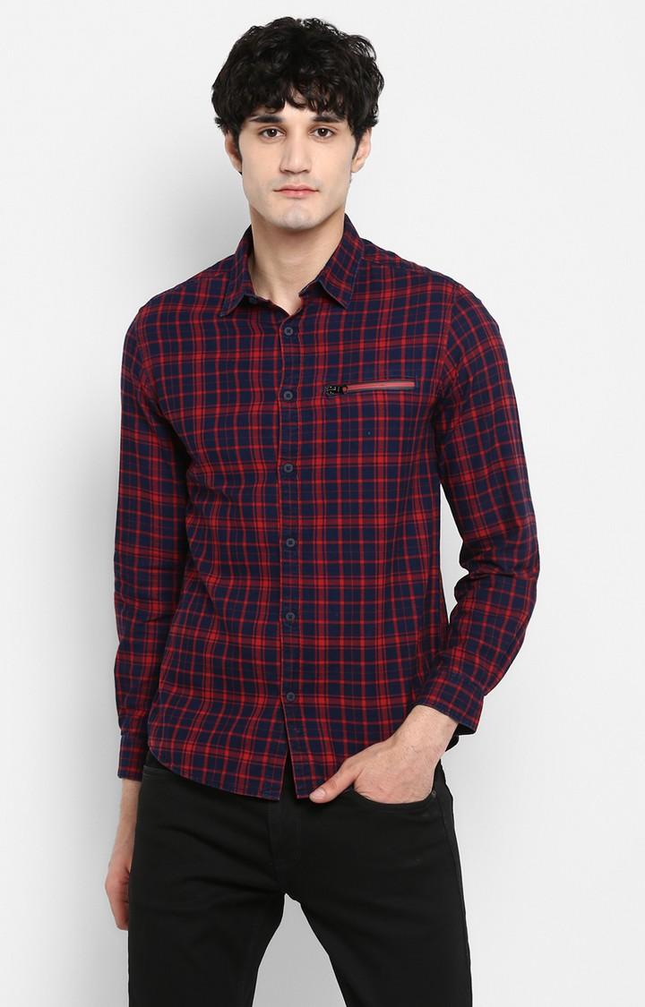 Spykar | spykar Red Cotton Casual Shirt