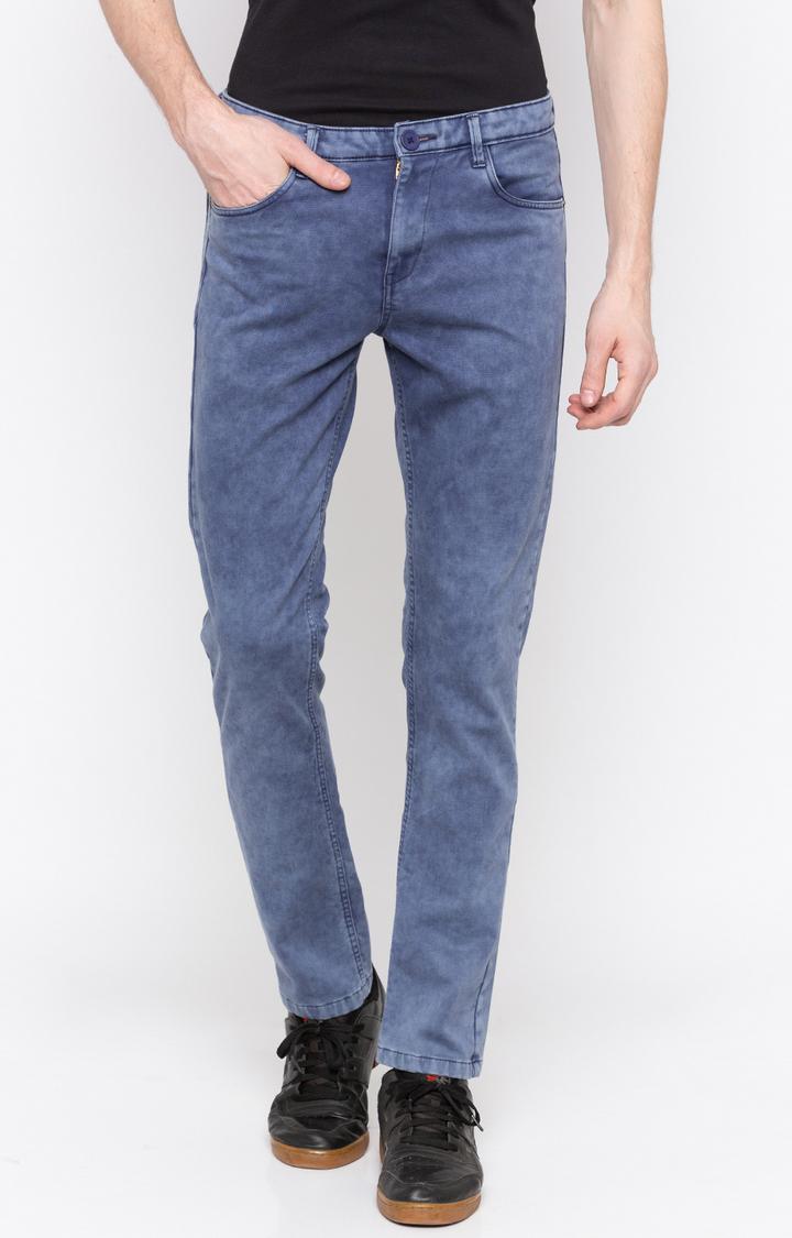 Spykar | spykar Cotton Low-Rise Slim Casual Pants