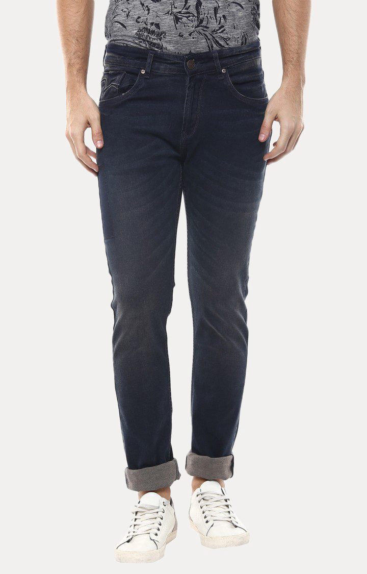 Spykar   Spykar Navy Solid Skinny Fit Jeans
