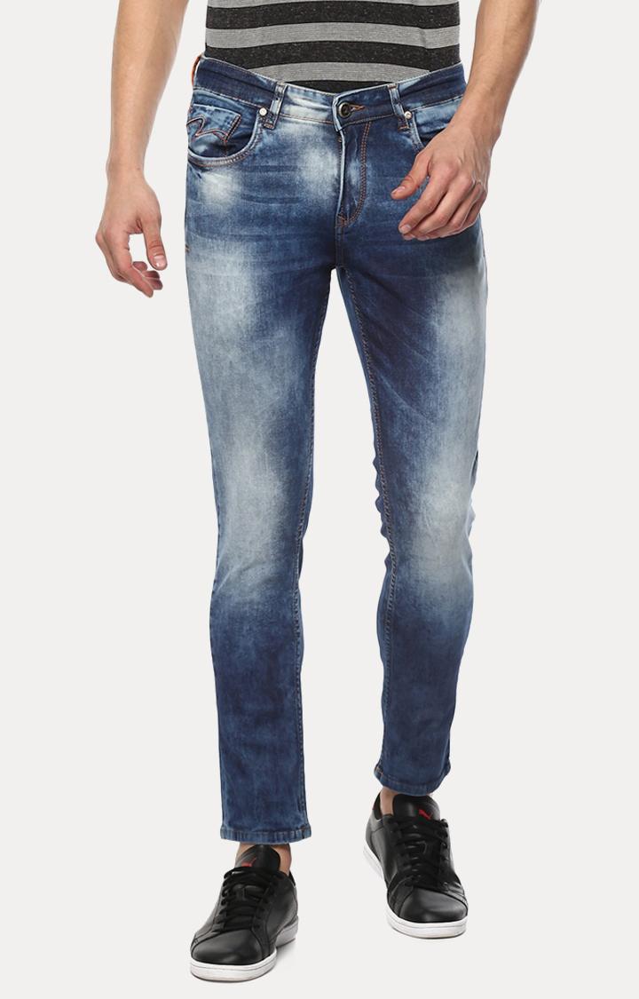 Spykar | Spykar Blue Solid Skinny Fit Jeans