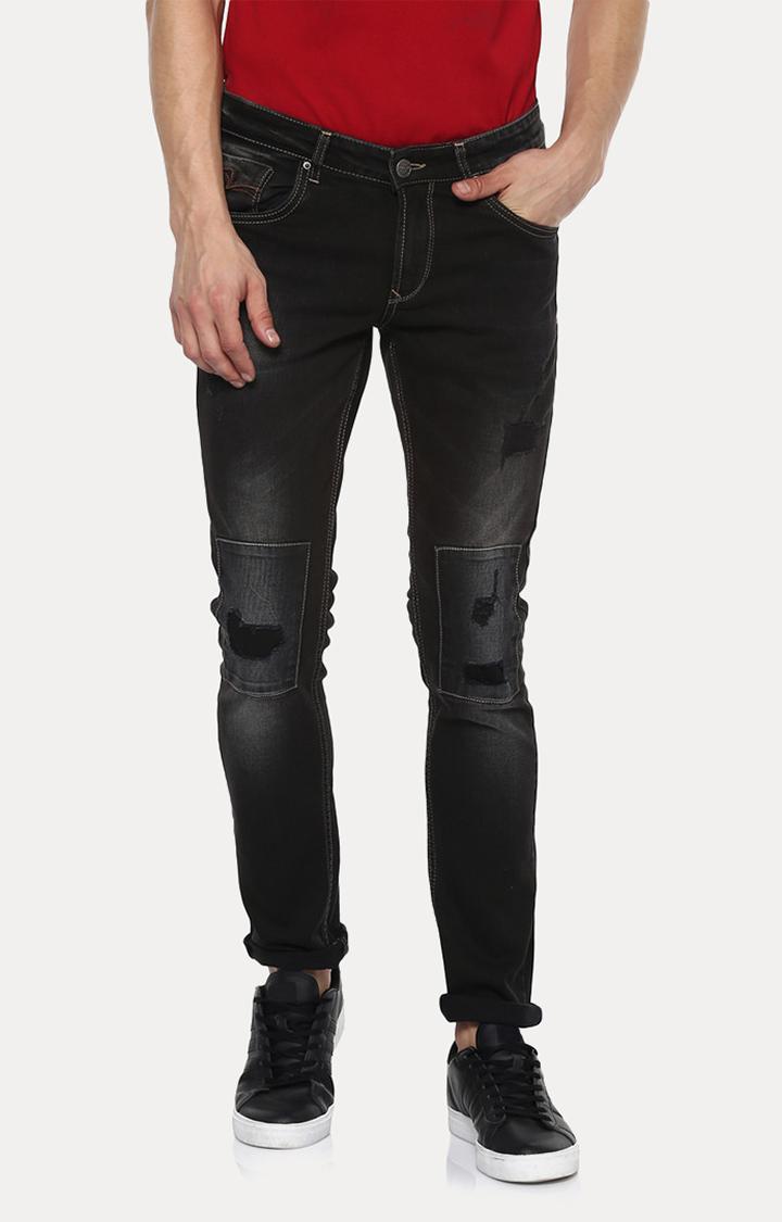 Spykar | Spykar Black Solid Skinny Fit Jeans