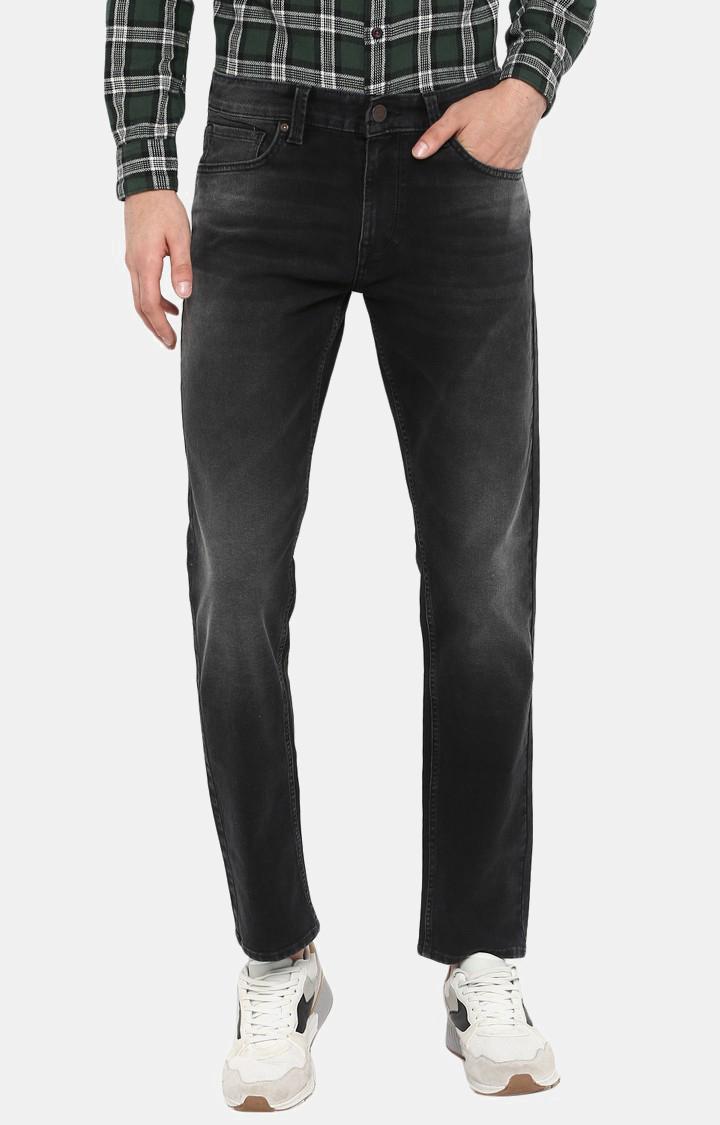 Spykar | Spykar Carbon Black Solid Regular Fit Jeans