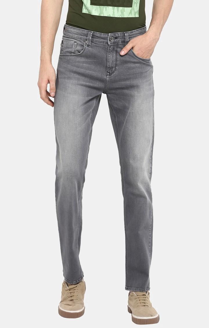 Spykar   Spykar Grey Solid Shoe Liners Jeans