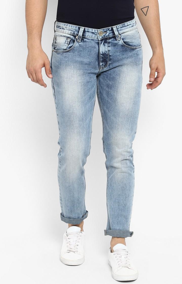 Spykar | Spykar Light Blue Solid Slim Thigh Narrow Leg Fit Jeans