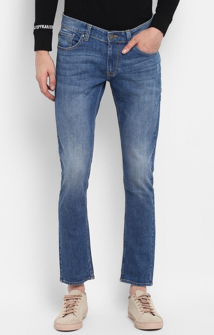 Spykar | Spykar Light Blue Solid Tapered Jeans
