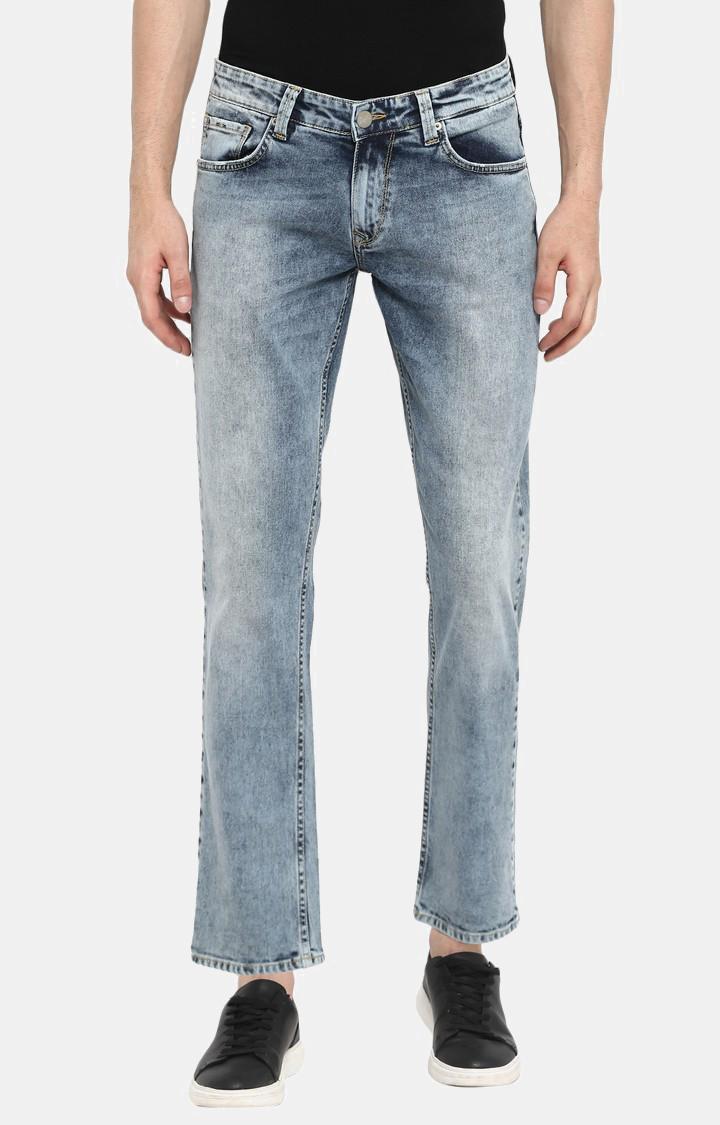 Spykar | Spykar Light Blue Solid Skinny Fit Jeans
