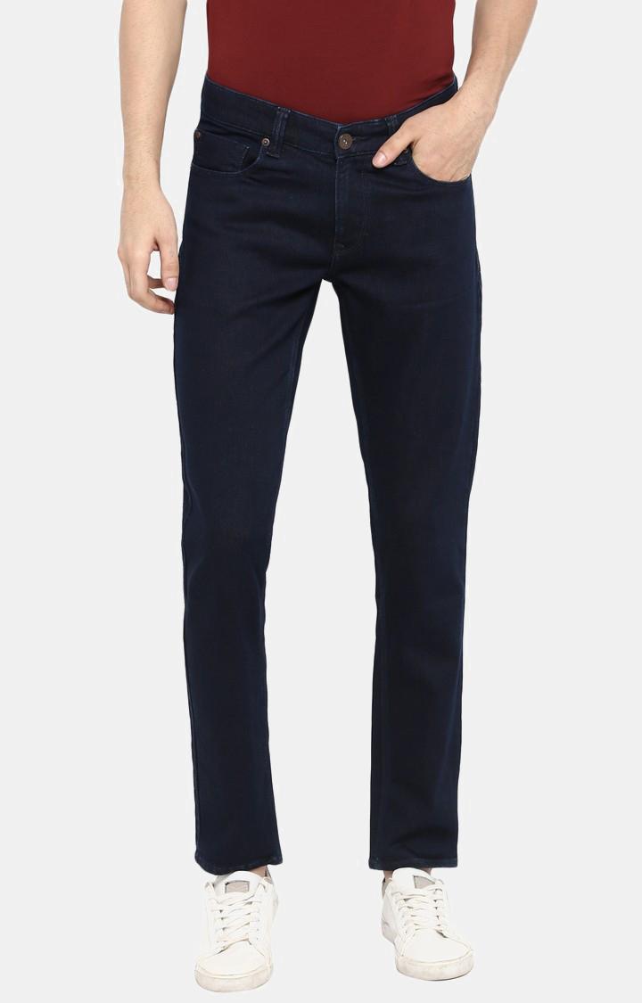 Spykar | Spykar Blue Solid Tapered Jeans