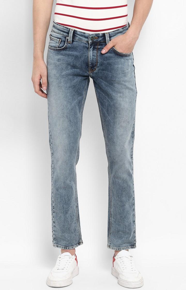 Spykar   Spykar Vintage Blue Solid Skinny Fit Jeans