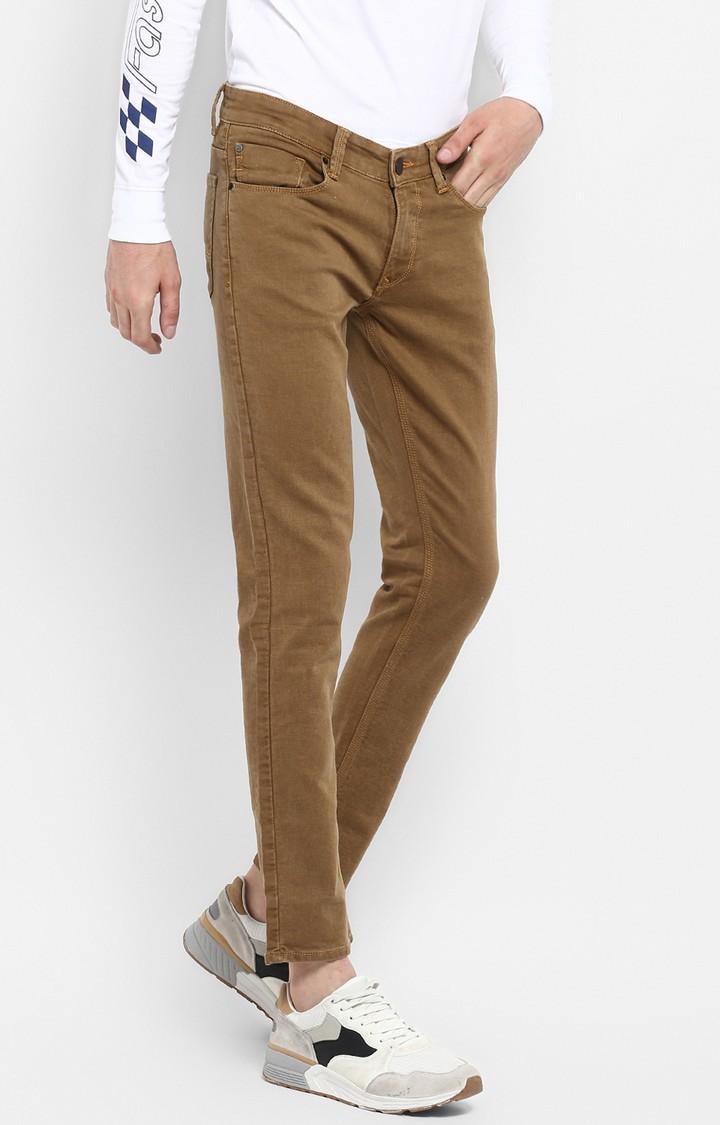 Spykar | Spykar Khaki Solid Skinny Fit Jeans