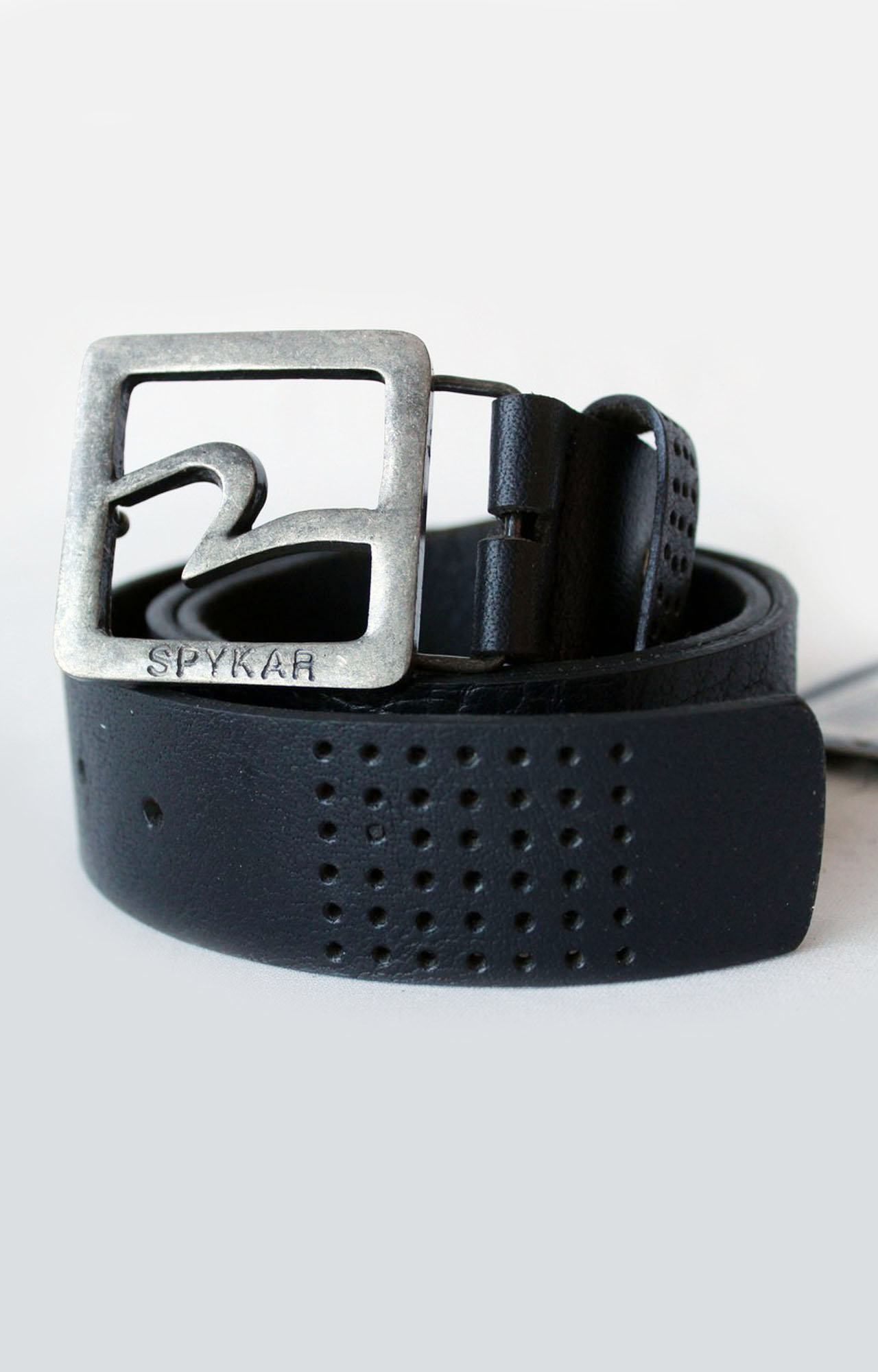 Spykar   Spykar Black Leather Belt