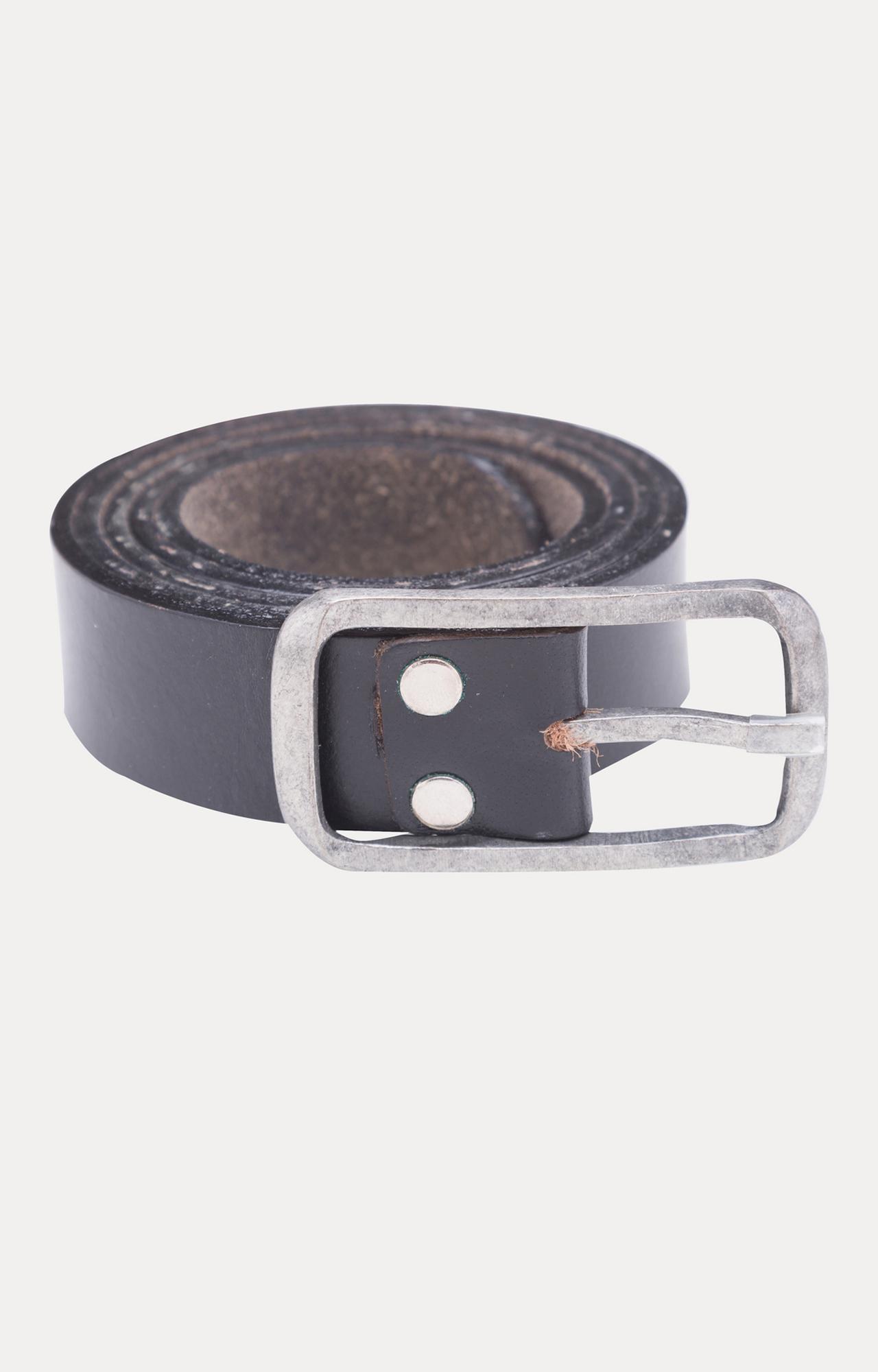 Spykar   Spykar Black Leather Belts