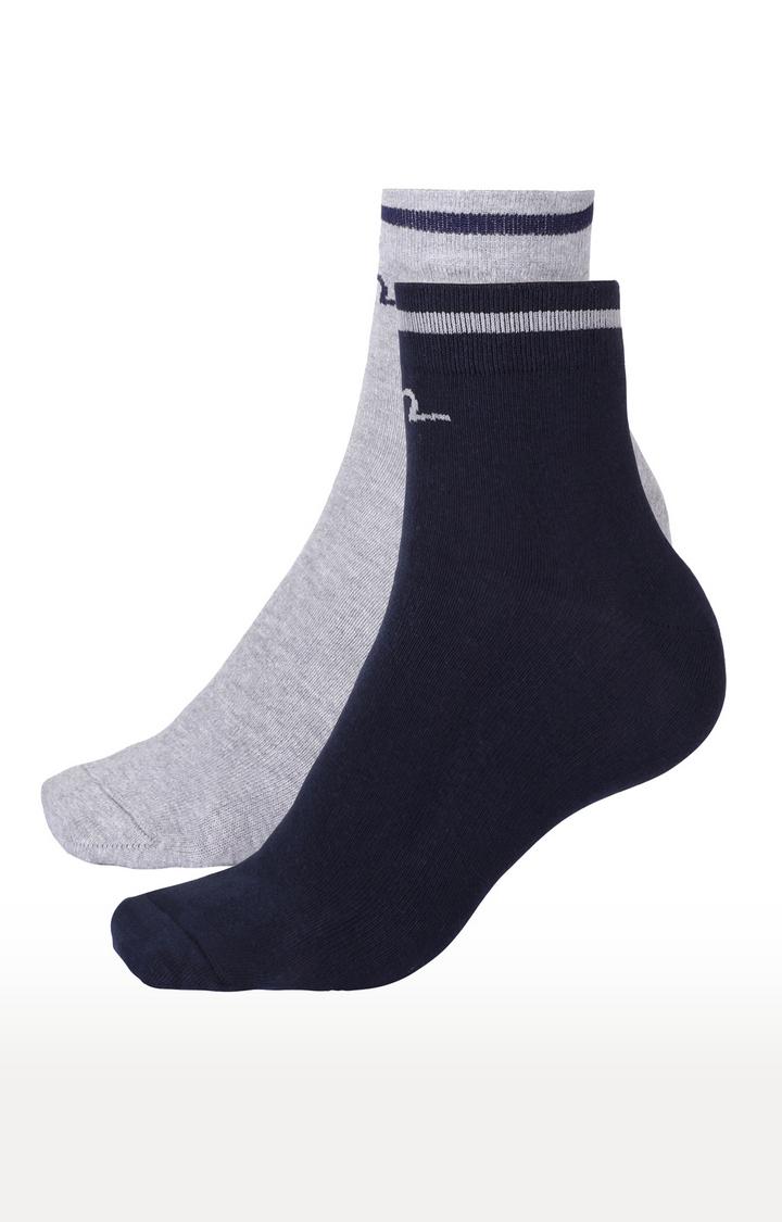 Spykar | Spykar Navy and Grey Melange Socks - Pack of 2
