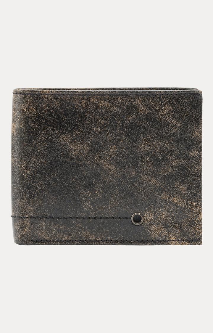 Spykar   Spykar Black Leather Wallets