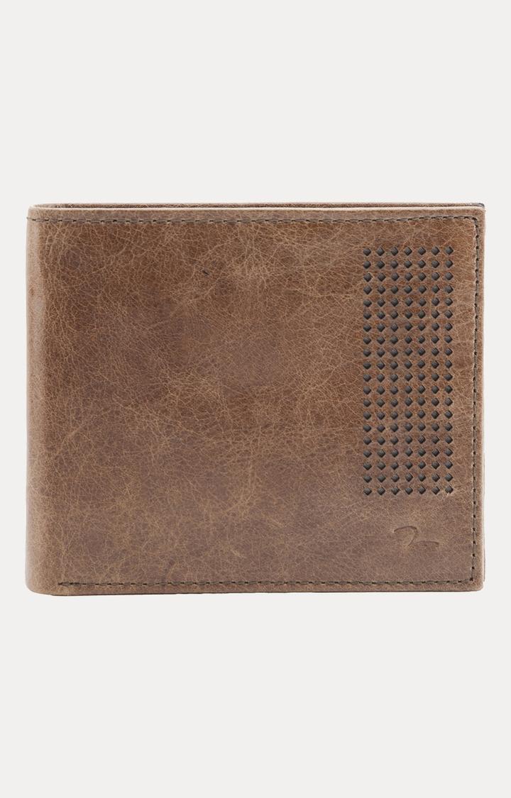 Spykar   Spykar Dark Brown Leather Wallets