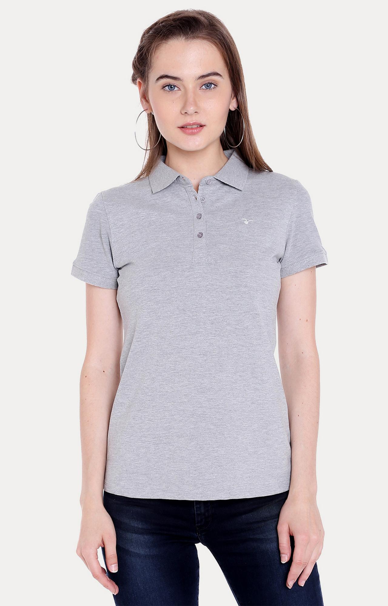 Spykar | spykar Grey Melange Regular Fit T-Shirt