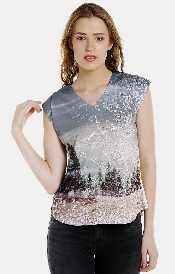 Spykar | Spykar OFF_WHITE Cotton Women T-Shirts
