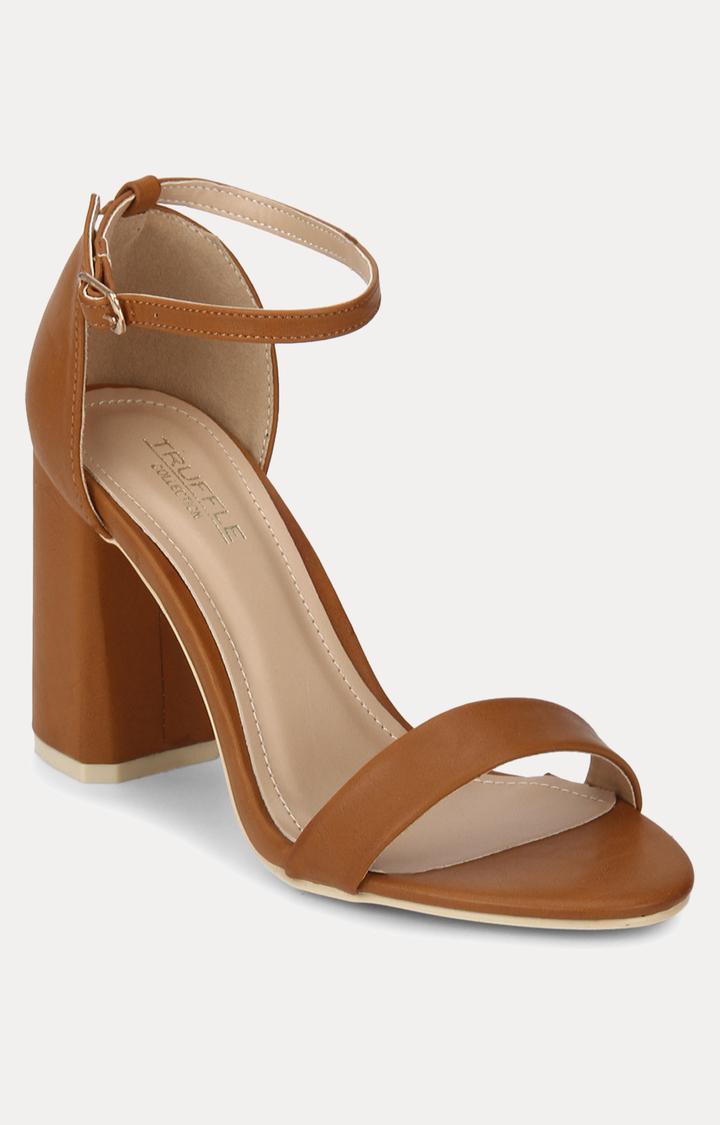 Truffle Collection | Brown Block Heels