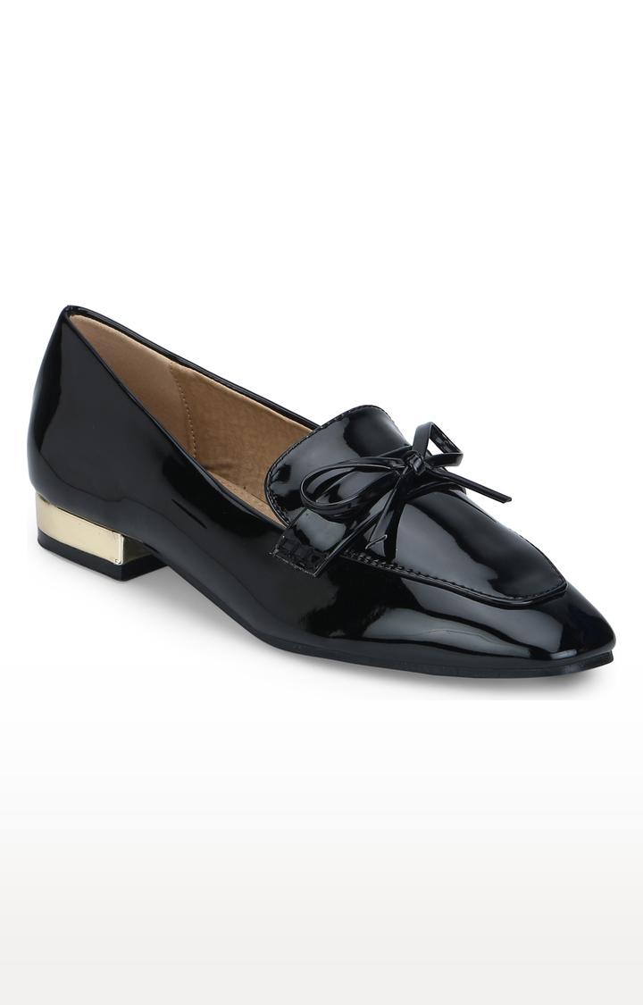 Truffle Collection   Black Block Heels