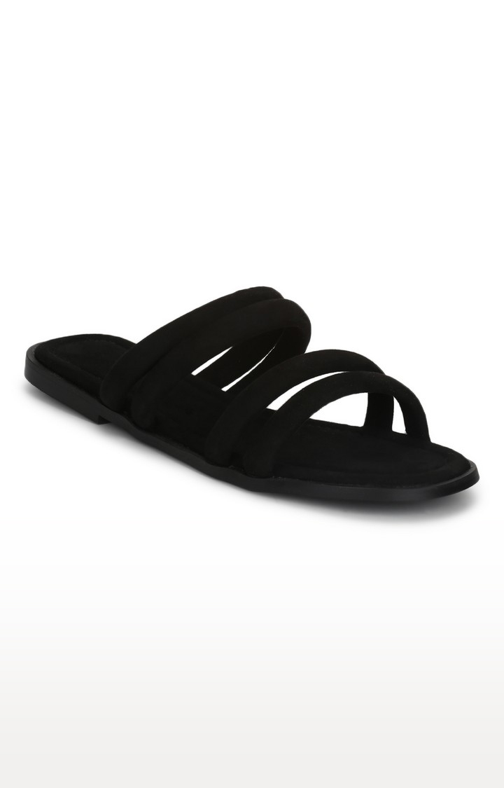 Truffle Collection   Black Slip-ons