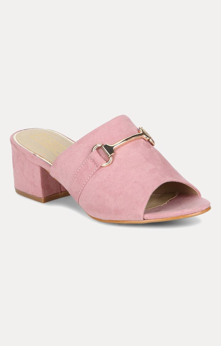 Truffle Collection   Pink Block Heels