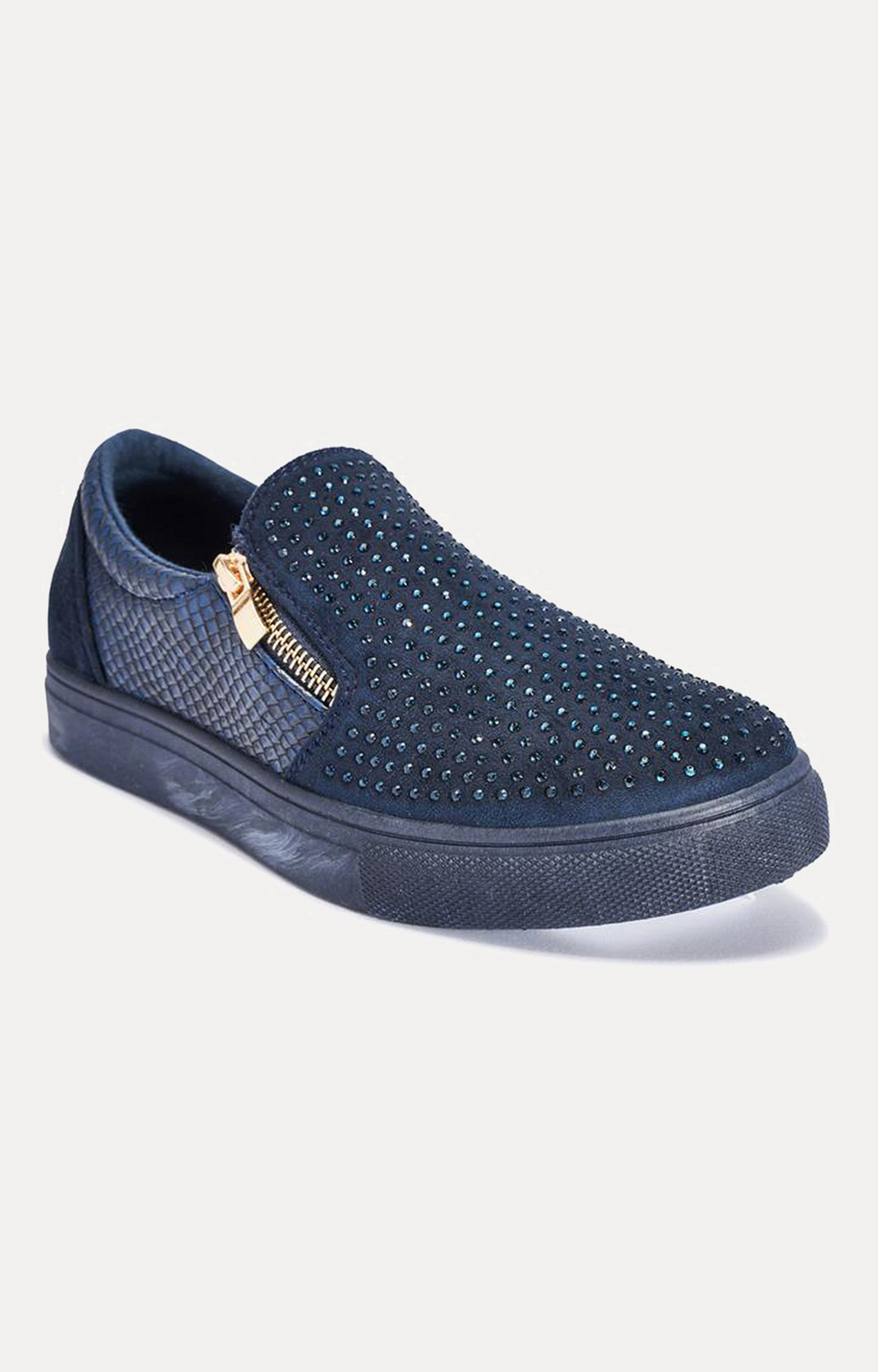 Truffle Collection   Navy Casual Slip-ons