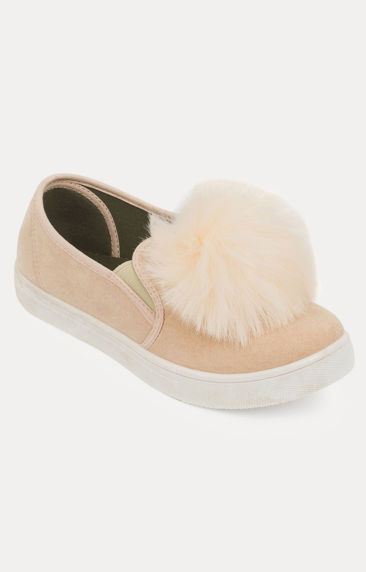 Truffle Collection | Blush Casual Slip-ons