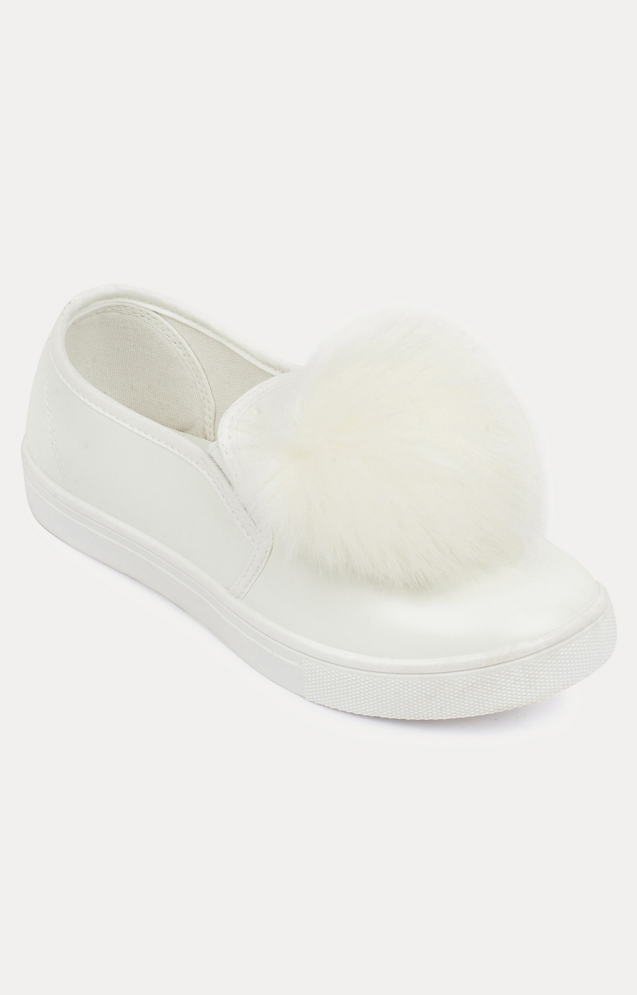 Truffle Collection   White Casual Slip-ons