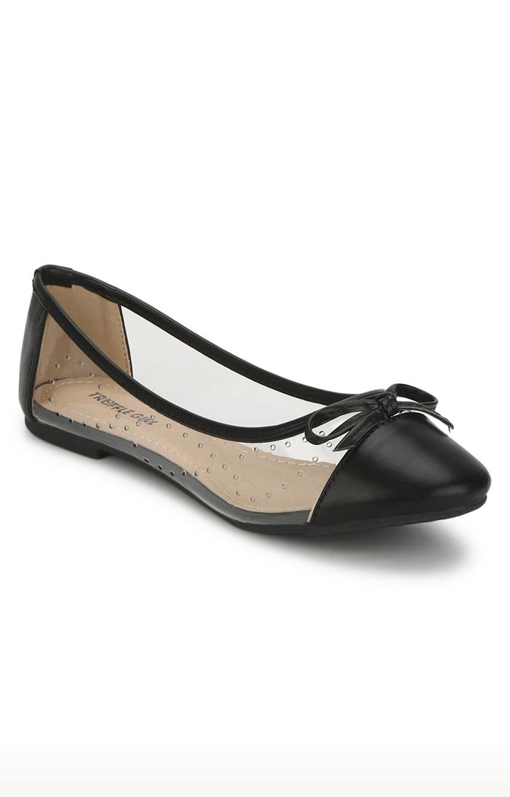 Truffle Collection | Black Ballerinas