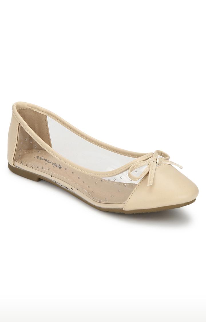 Truffle Collection | Beige Ballerinas