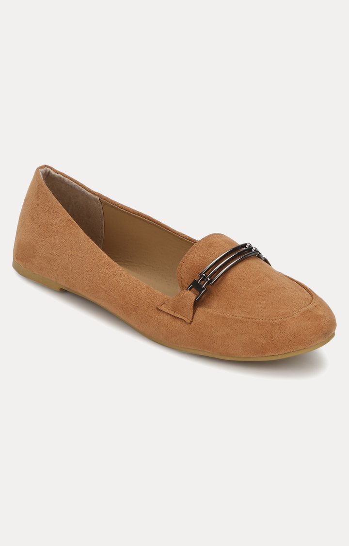 Truffle Collection | Tan Loafers