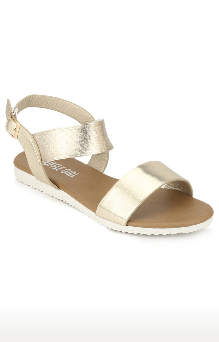 Truffle Collection | Gold Sandals