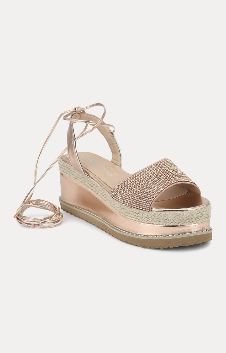 Truffle Collection   Rose Gold Wedges
