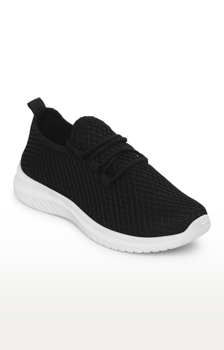 Truffle Collection | Black Mesh Slip-On Sneakers