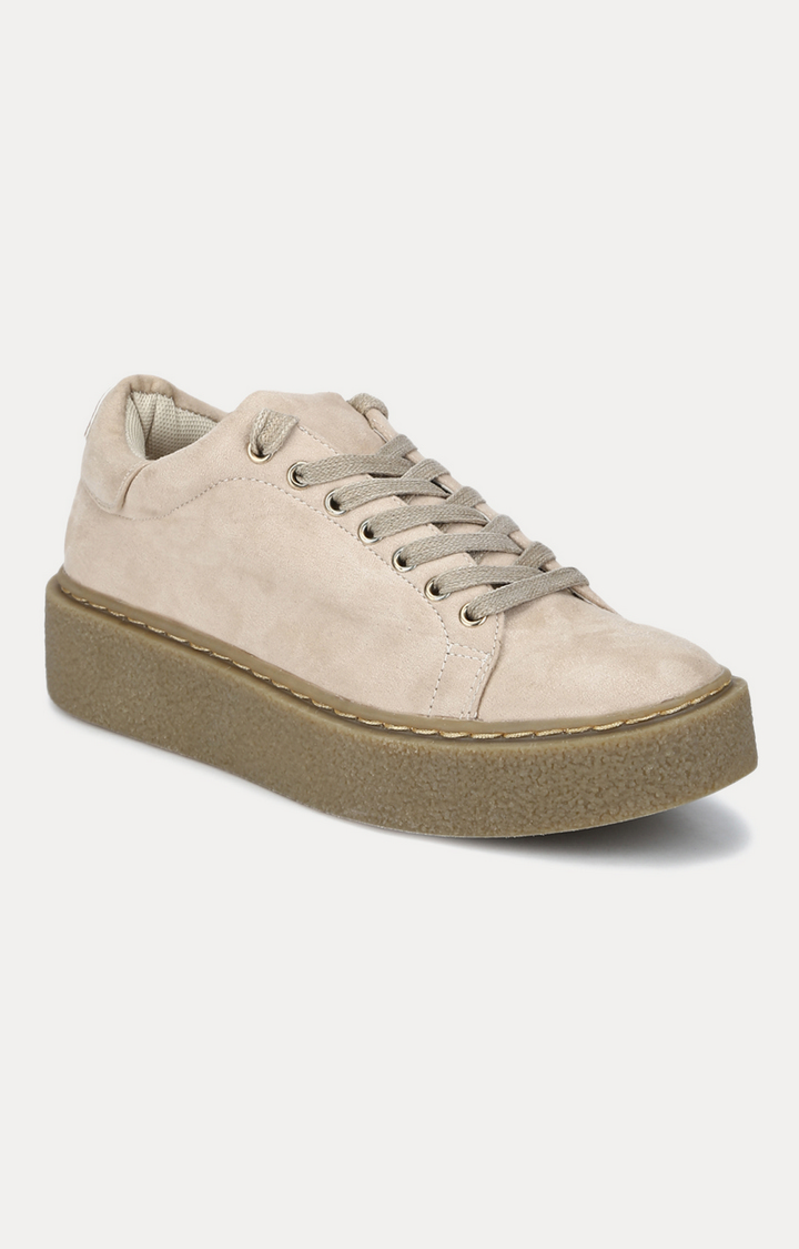 Truffle Collection   Beige Sneakers