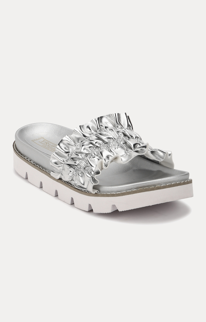 Truffle Collection | Silver Slip-ons