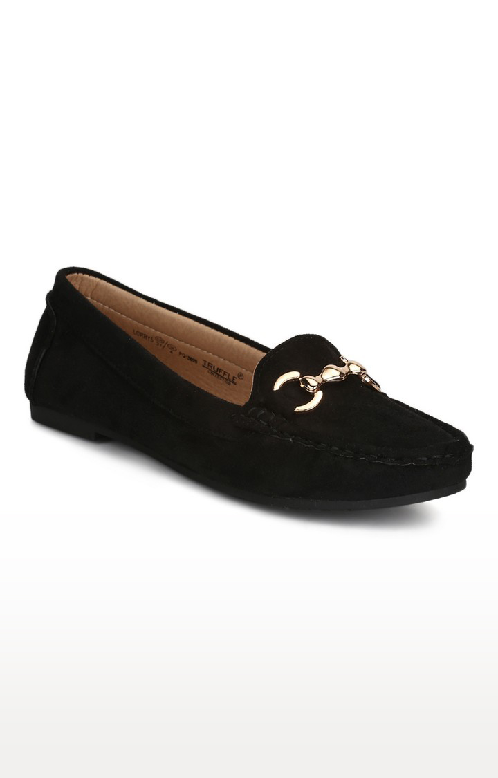 Truffle Collection | Black Loafers