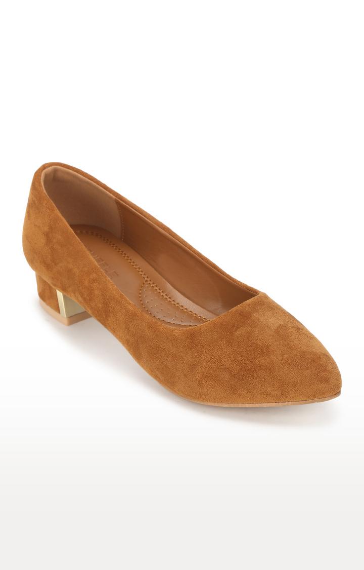 Truffle Collection | Tan Micro Low Pump Heels
