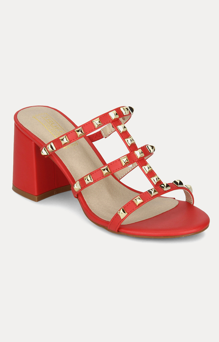 Truffle Collection   Red Block Heels