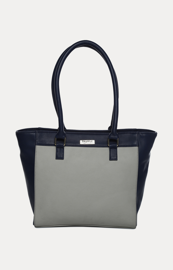 Truffle Collection | Navy and Grey Tote