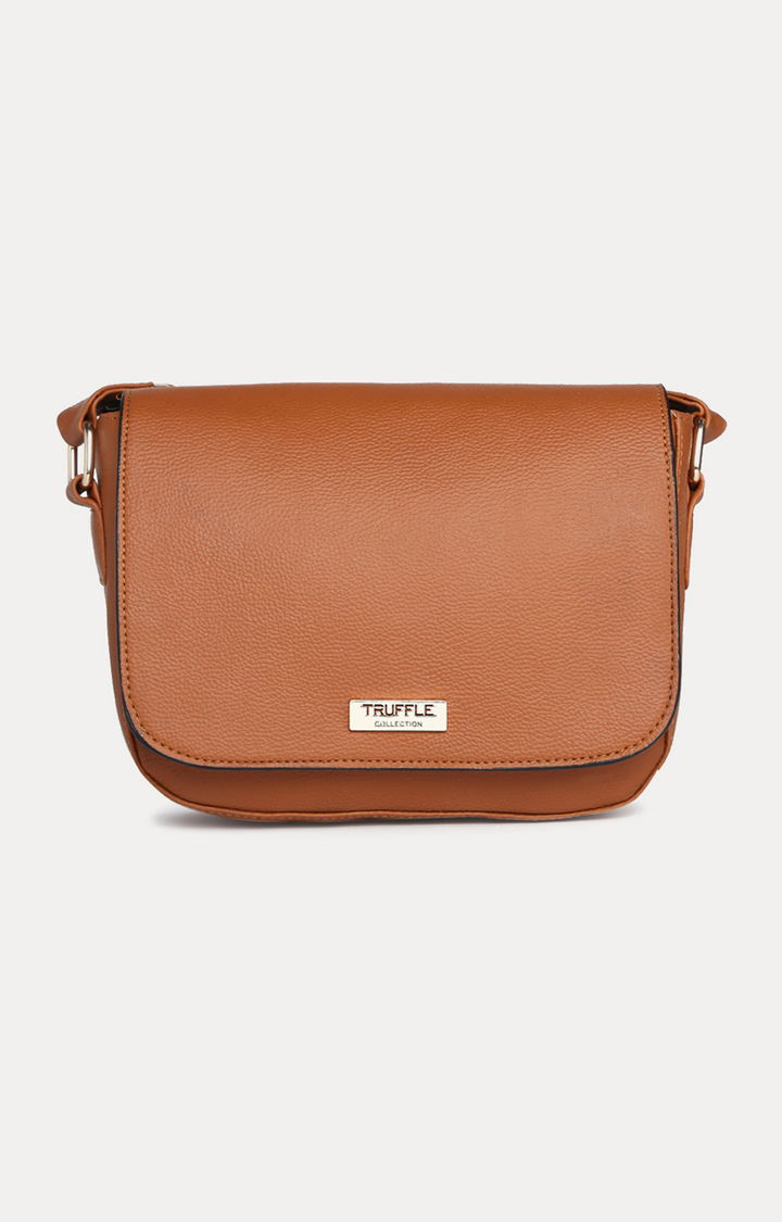 Truffle Collection   Tan Sling Bag