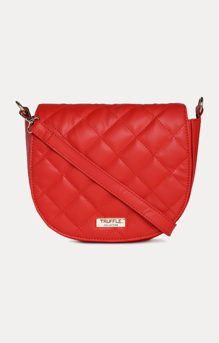 Truffle Collection   Red Sling Bag