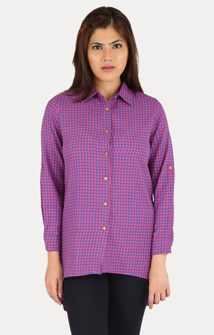 Smarty Pants | Pink Checked Casual Shirt