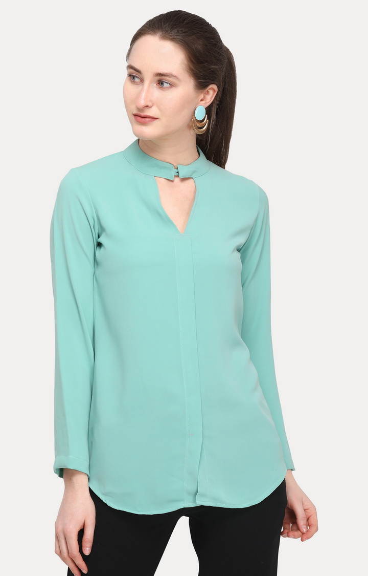 Smarty Pants | Turquoise Solid Top